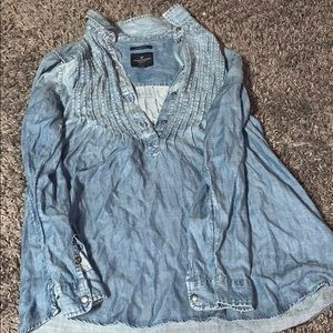 American Eagle Denim Long Sleeve Botton Up
